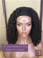 "!!SOLD!!- INSTOCK: 18"" CURL BABY HEADBAND WIG"