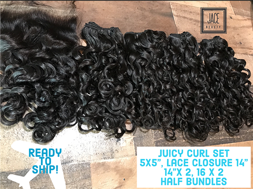 "!!SOLD!!- JUICY CURL SET!  (14"", 16"" range)"