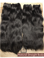 "!!SOLD!! - NATURAL STRAIGHT BODY SET!  (16"", 18"")"