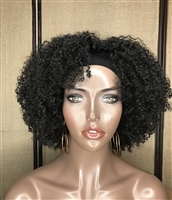 "INSTOCK: 12"" SUPER COILY FRO HEADBAND WIG (check alternate pics)"